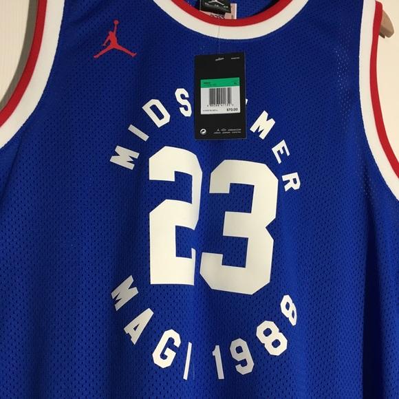 newest 25e5f 1f33c Nike Air Jordan Legacy Midsummer Magic Jersey